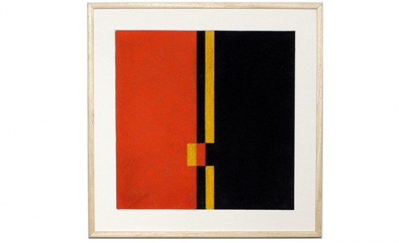 ligne rouge et noir sur fond jaune