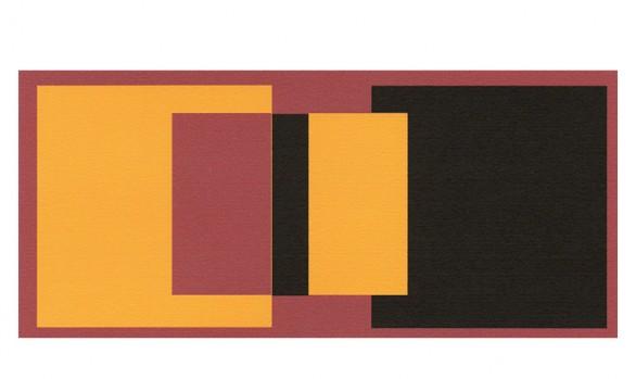 détachement - jaune et noir sur fond rouge
