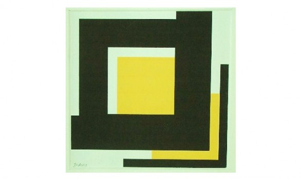 affirmatif : angle noir et jaune (sérigraphie)