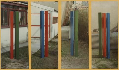 sculpture minimaliste trois x trois