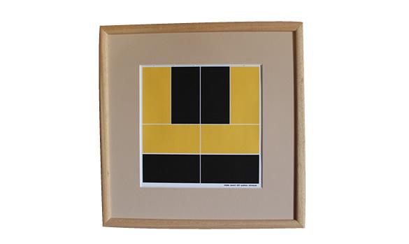 Position noir sur fond jaune